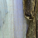сетка золота, вышитая золотым шнуром - цена 540 грн м.п. портьера с вышитым шнуром - цена 540 грн м.п.